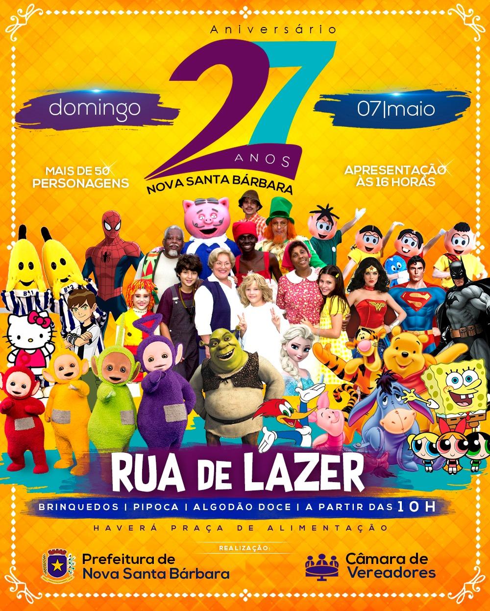 Rua de Lazer - Aniversario da Cidade