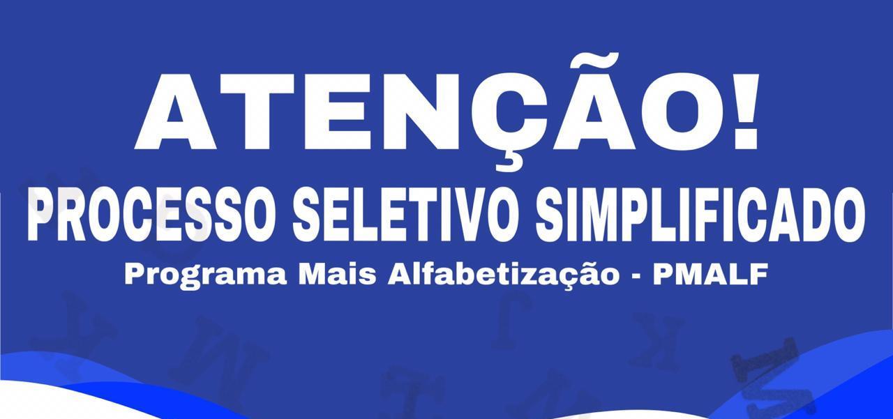 EDITAL N° 01/ 2020 - PROCESSO SELETIVO SIMPLIFICADO PARA  ASSISTENTES DE ALFABETIZAÇÃO DO PROGRAMA MAIS ALFABETIZAÇÃO