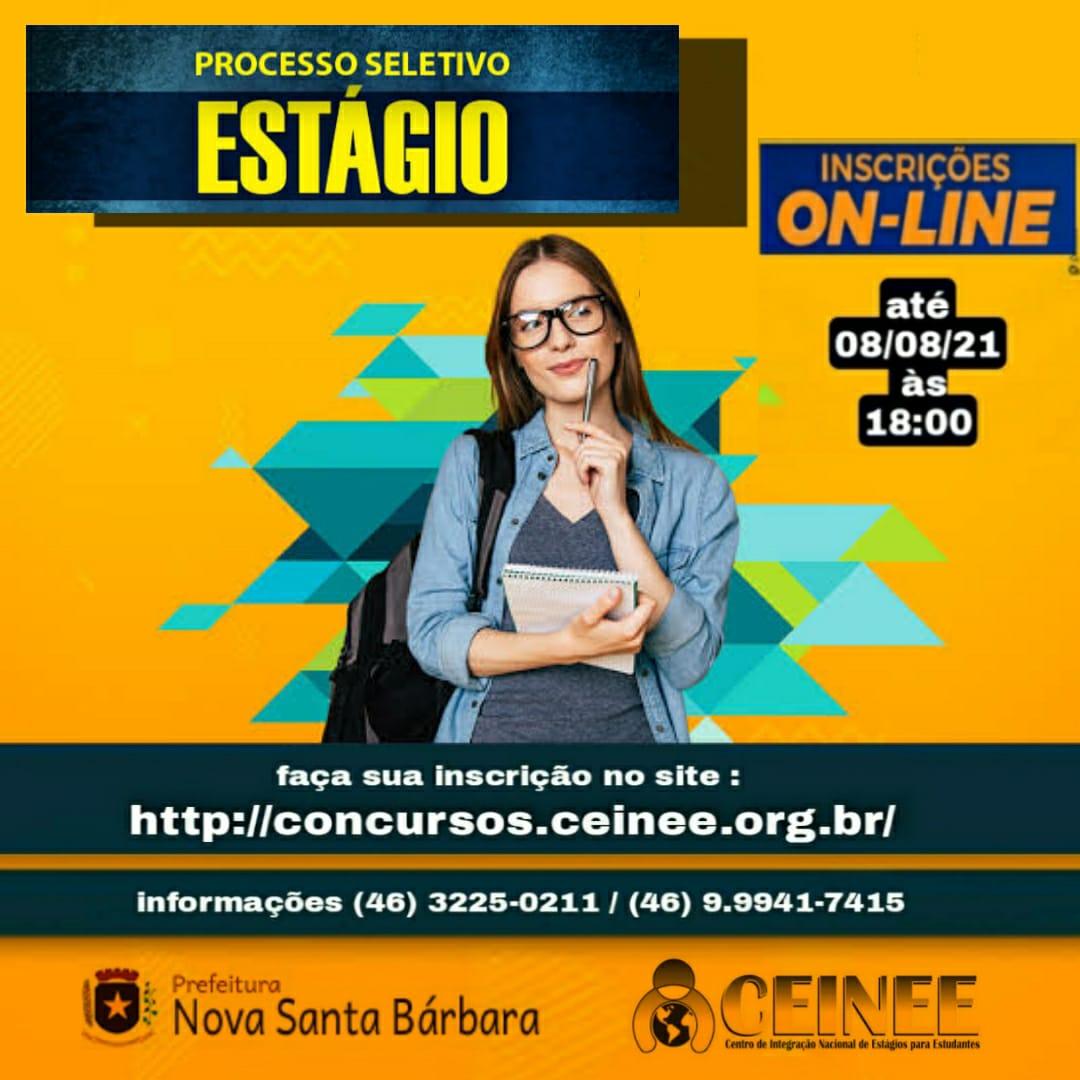 EDITAL Nº 001/2021 - ABERTURA DE PROCESSO SELETIVO DESTINADO AO DESENVOLVIMENTO DE ESTÁGIOS